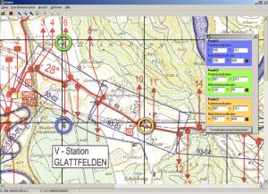 Skalierung eines elektronisch eingelesenen Trassenplans